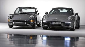 7 generations of Porsche 911