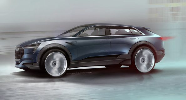 Audi e-tron quattro Frankfurt Autoshow'da
