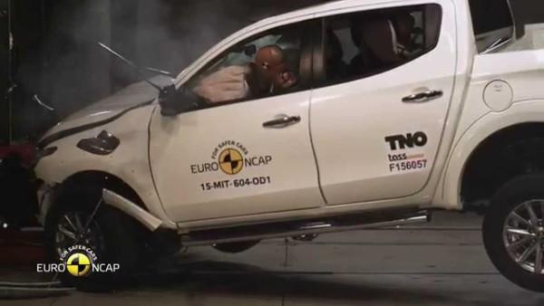 Euro Ncap Crash Test of Mitsubishi L200