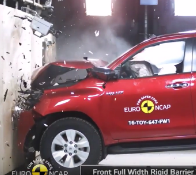 Toyota Hilux Crash Test