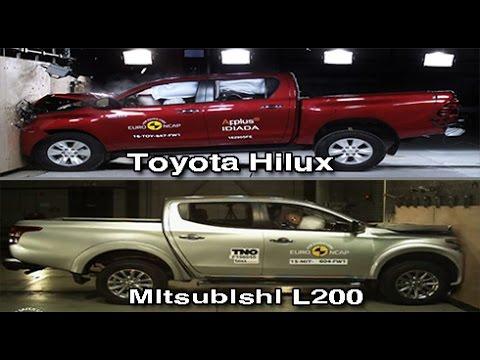 2016 Toyota Hilux Mitsubishi L200 Triton Crash Test