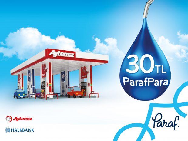 Paraf sahipleri, Paraf üyesi Aytemiz istasyonlarından yapacakları akaryakıt ya da otogaz alışverişlerinde, 30 TL ParafPara kazanıyor.