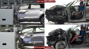 Crash Test Hyundai Santa Fe Vs Hyundai Tucson