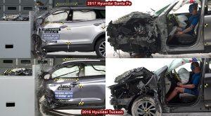 Crash Test Hyundai Santa Fe Vs Hyundai Tucson