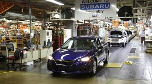 First American-Built Subaru Impreza built in Subaru of Indiana Automotive Plant