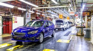 First American-Made Impreza Rolls off the Assembly Line in Subaru of Indiana Automotive Plant