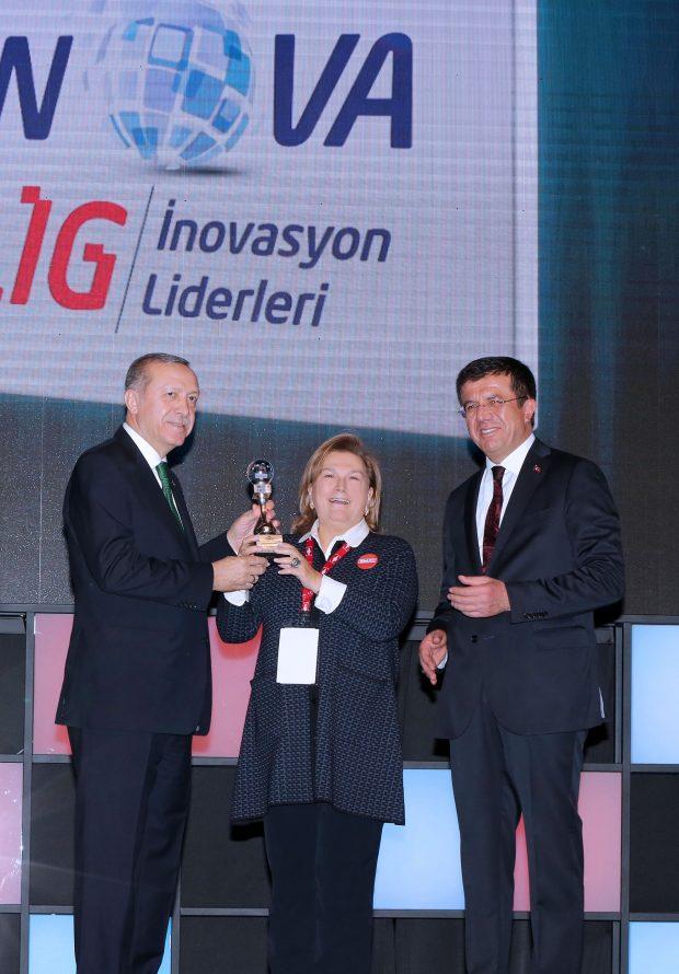 """TİM'in düzenlediği 5. İnovasyon Haftası kapsamında gerçekleşen İnovalig Ödülleri'nde Temsa, """"İnovasyon Kaynakları"""" kategorisinde birinci oldu."""