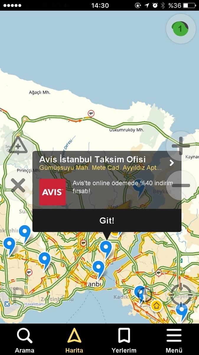Avis Yandex Navigasyon'un Sesli Yönlendirmesi ile Reklam Veren İlk Marka Oldu