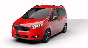 Yeni Ford Tourneo Courier Blackline Serisi Mayıs Ayında Türkiye'de