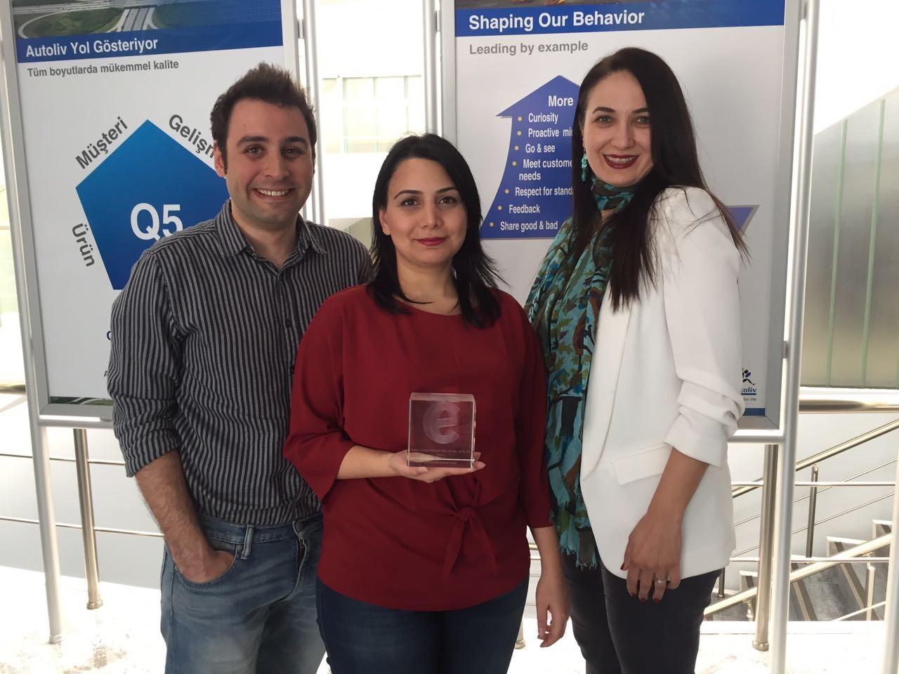 """Autoliv Türkiye İK Ekibi """"En İyi Aday Tecrübesi"""" Anketinde Ödül Aldı"""