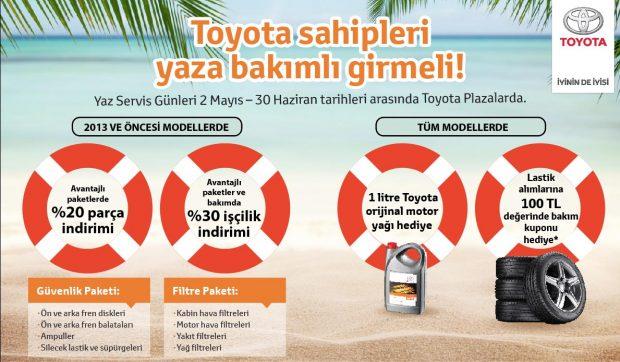 Toyota nin Yaz Servis Kampanyasi ile Yaza Bakimli Girin
