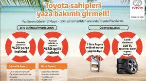 Toyota  30 Haziran'a Kadar Geleneksel Yaz Servis Günleri Kampanyası Düzenliyor