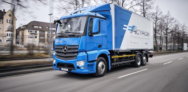 Mercedes-Benz Elektrikli Actros Kamyonu 2018 Yılında Piyasaya Sürecek