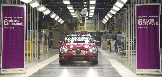 Oyak Renault 6 milyonuncu otomobil