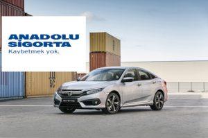 Anadolu Sigorta Honda Otomobillere Özel Kasko Hazırladı