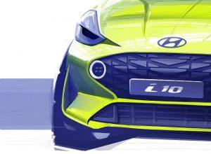 Hyundai Yeni i10 İçin İlk Tasarım Çizimini Ortaya Çıkardı