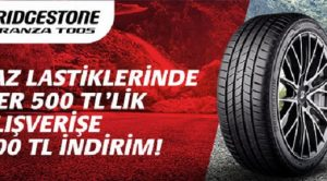 Bridgestone Binek ve Hafif Ticari Yaz Lastiklerinde Kampanya