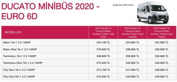 ducato minibus mayis 2020 fiyat