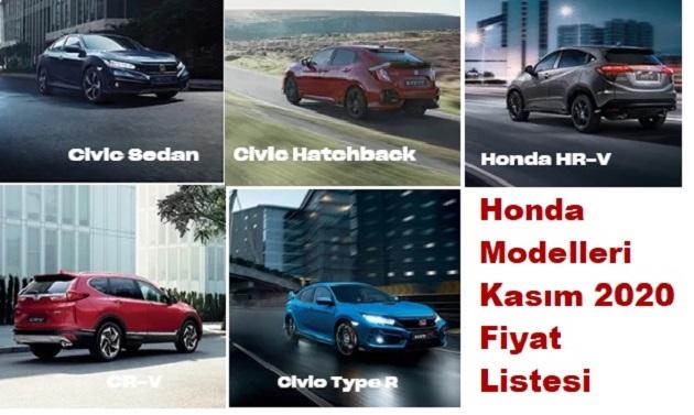 Honda Modelleri Kasım 2020 Fiyat Listesi
