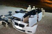 Hacizli Otomobilini Parçalara Ayırıp Boş Araziye Bıraktı